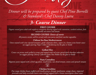 3 course dinner valentines day