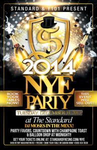 Hey Fresno - Come ring in the 2014 New Year with us at The Standard